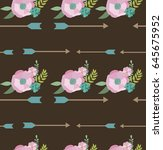 seamless pattern in boho style. ... | Shutterstock .eps vector #645675952