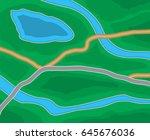 abstract generic suburban city... | Shutterstock .eps vector #645676036