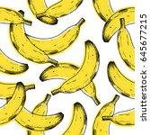 old print banana seamless... | Shutterstock .eps vector #645677215