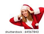 surprised santa claus smiling... | Shutterstock . vector #64567843