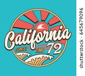 california sport sunset time... | Shutterstock .eps vector #645679096