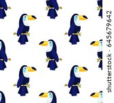 cute seamless pattern with a... | Shutterstock .eps vector #645679642
