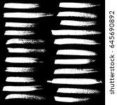 ink vector brush strokes set.... | Shutterstock .eps vector #645690892