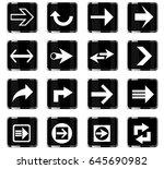 arrow web icons for user... | Shutterstock .eps vector #645690982