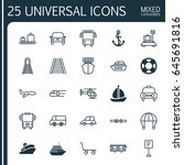 delivery icons set. collection... | Shutterstock .eps vector #645691816