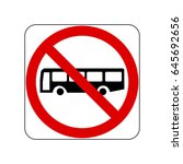 no buses | Shutterstock .eps vector #645692656