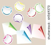 set of colored curled glossy... | Shutterstock .eps vector #64569373