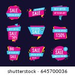 sale text on scrolled paper... | Shutterstock .eps vector #645700036