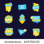 super big sale lettering... | Shutterstock .eps vector #645700135