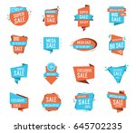 shopping sale lettering | Shutterstock .eps vector #645702235