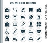 drug icons set. collection of... | Shutterstock .eps vector #645703456