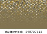 dark yellow vector banner with... | Shutterstock .eps vector #645707818