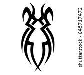 tribal tattoo art designs.... | Shutterstock .eps vector #645717472