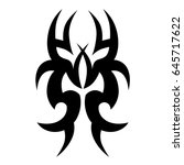 tribal tattoo art designs.... | Shutterstock .eps vector #645717622