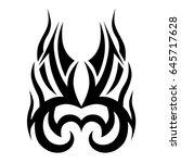 tattoo tribal vector design.... | Shutterstock .eps vector #645717628