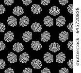 dotted seashells seamless... | Shutterstock .eps vector #645720838
