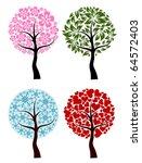 valentines  spring  winter tree ... | Shutterstock .eps vector #64572403