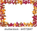 orange leaves on white... | Shutterstock .eps vector #64572847