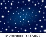 Beautiful night star sky background - stock vector