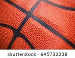 Closeup Detail Of Basketball...