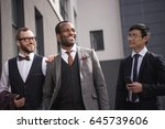 young stylish multiethnic... | Shutterstock . vector #645739606