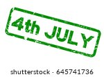 grunge green 4th july square... | Shutterstock .eps vector #645741736