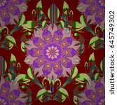 seamless pattern with many... | Shutterstock . vector #645749302