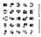 simple icon set of pay items in ... | Shutterstock .eps vector #645752326