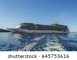 freedom of the seas  ... | Shutterstock . vector #645753616