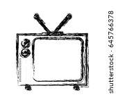 retro television icon | Shutterstock .eps vector #645766378