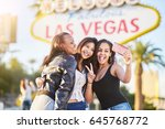 diverse all girl group of...   Shutterstock . vector #645768772