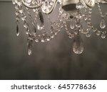 vintage chandelier  close on... | Shutterstock . vector #645778636