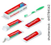 isometric paste or gel... | Shutterstock .eps vector #645784162