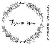 hand drawn leaf laurel wreath.... | Shutterstock .eps vector #645785158