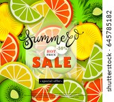 summer sales. advertising text... | Shutterstock .eps vector #645785182