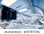 3d rendering control panel... | Shutterstock . vector #645787246