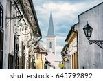 hrnciarska street with... | Shutterstock . vector #645792892