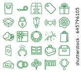 gift icons set. set of 25 gift... | Shutterstock .eps vector #645796105
