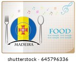 food logo made from the flag of ... | Shutterstock .eps vector #645796336