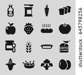 nutrition icons set. set of 16... | Shutterstock .eps vector #645798256