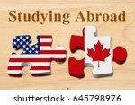 americans attending college in...   Shutterstock . vector #645798976