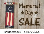 memorial day sale message  usa... | Shutterstock . vector #645799666