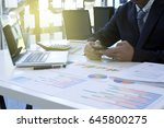 executive businessman sit down... | Shutterstock . vector #645800275