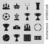 championship icons set. set of... | Shutterstock .eps vector #645802168