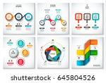 abstract infographics number... | Shutterstock .eps vector #645804526
