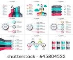 business data visualization.... | Shutterstock .eps vector #645804532