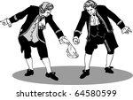 Two Men In A Retro Bow