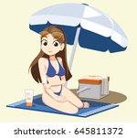 protect skin from the sun.... | Shutterstock .eps vector #645811372