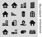 estate icons set. set of 16...   Shutterstock .eps vector #645811786