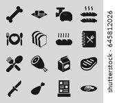 meal icons set. set of 16 meal... | Shutterstock .eps vector #645812026